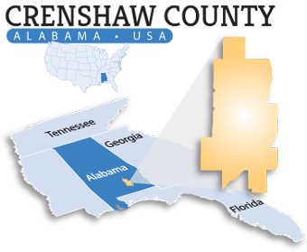 Crenshaw County map